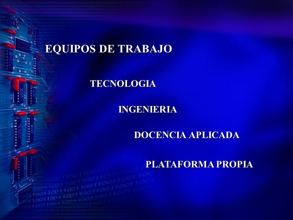 EQUIPOS DE TRABAJO TECNOLOGIA INGENIERIA DOCENCIA APLICADA