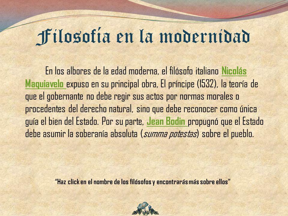 Filosofía en la modernidad