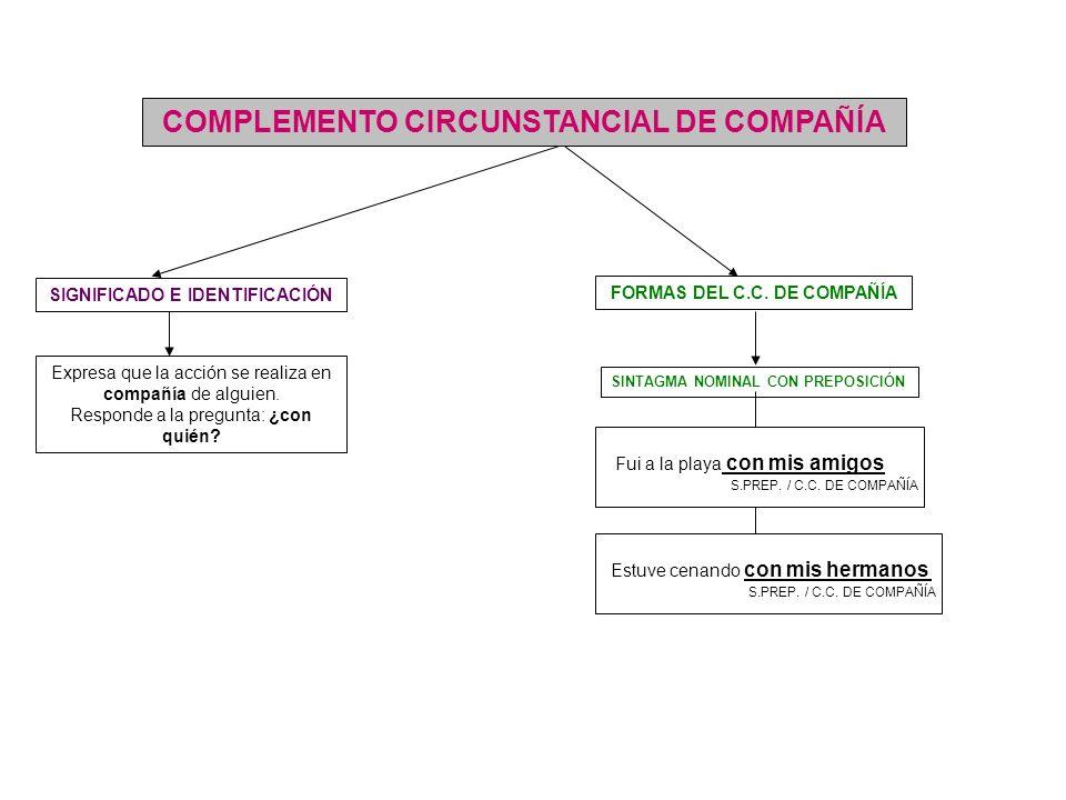 COMPLEMENTO CIRCUNSTANCIAL DE COMPAÑÍA