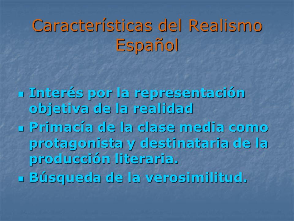 Características del Realismo Español