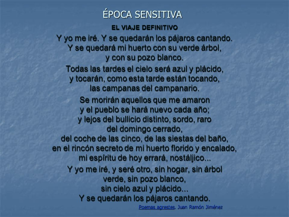 Poemas agrestes. Juan Ramón Jiménez