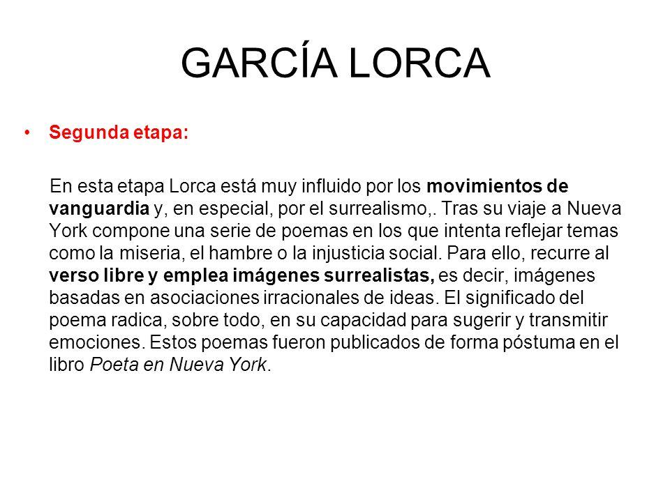 GARCÍA LORCA Segunda etapa: