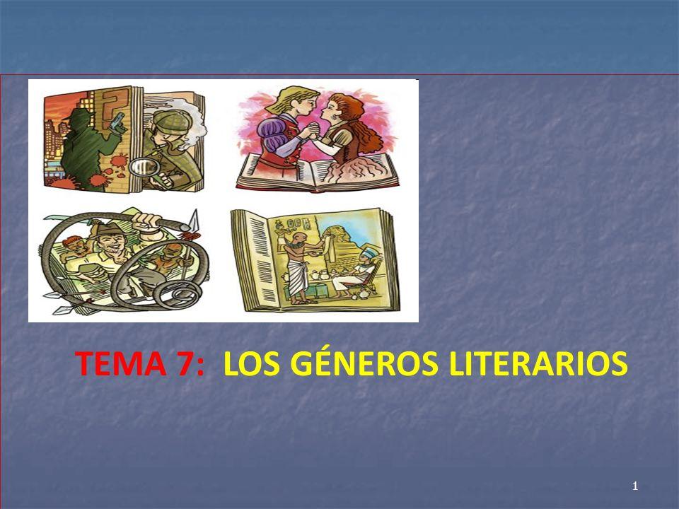 TEMA 7: LOS GÉNEROS LITERARIOS