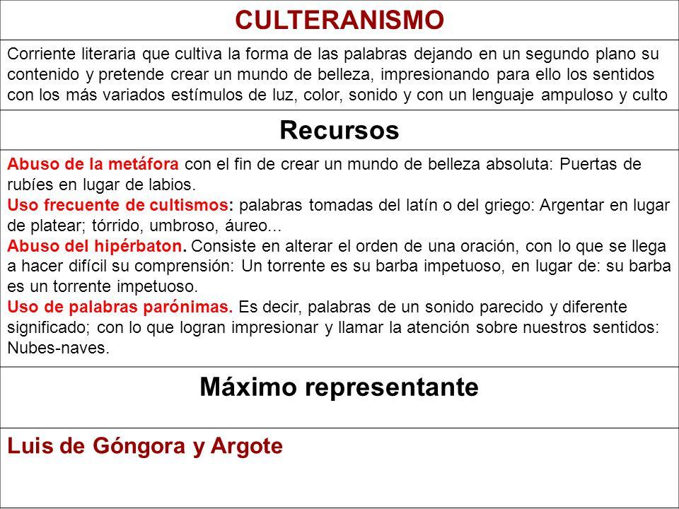 CULTERANISMO Recursos Máximo representante