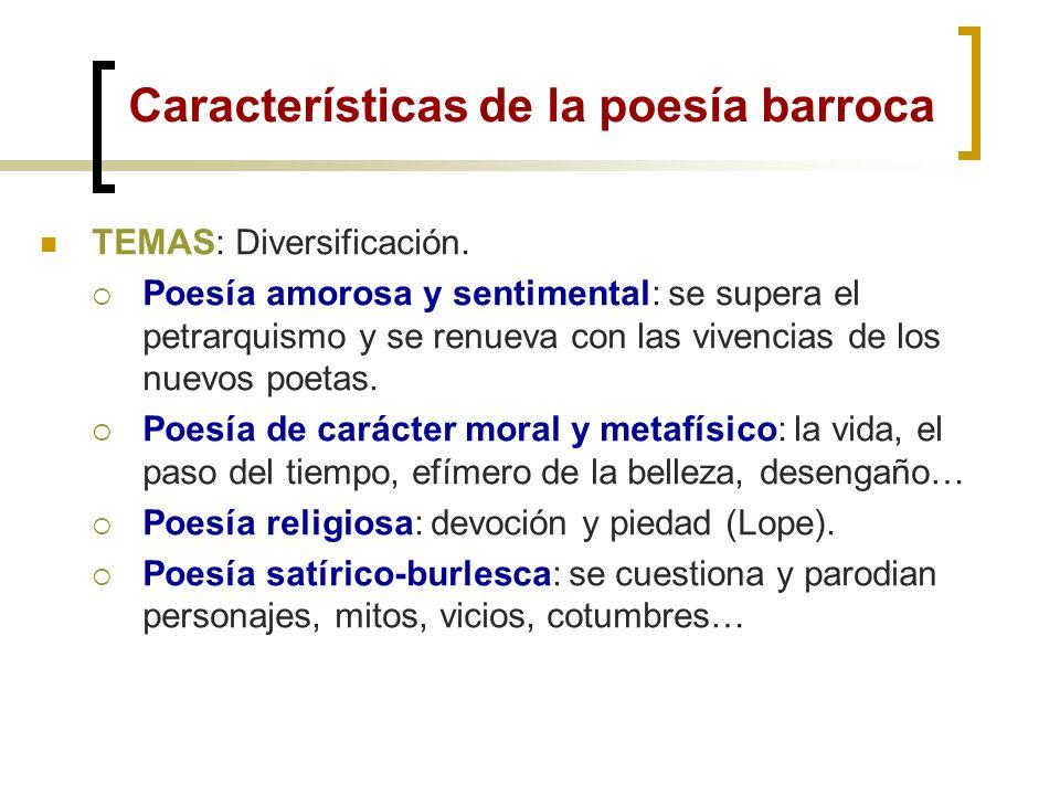 Características de la poesía barroca