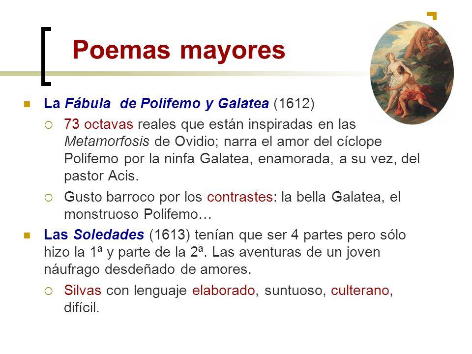 Poemas mayores La Fábula de Polifemo y Galatea (1612)