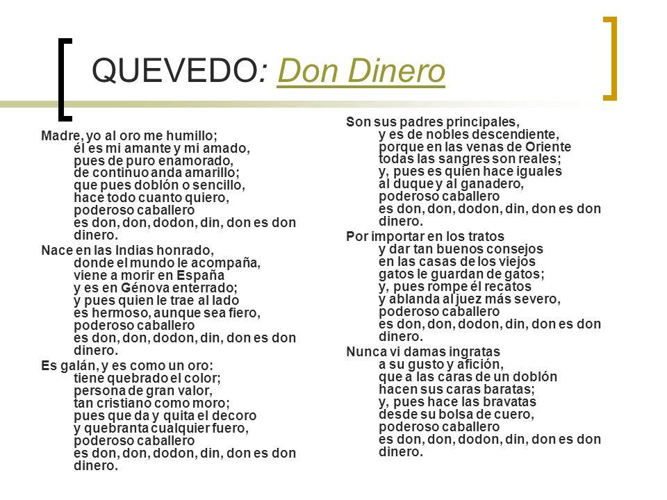 QUEVEDO: Don Dinero