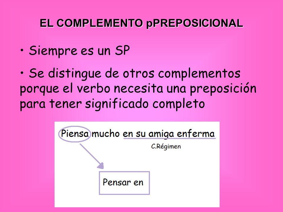 EL COMPLEMENTO pPREPOSICIONAL