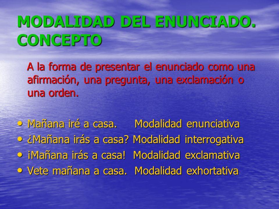 MODALIDAD DEL ENUNCIADO. CONCEPTO