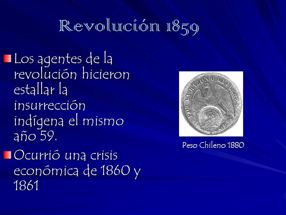 Revolución 1859 Los agentes de la revolución hicieron estallar la insurrección indígena el mismo año 59.