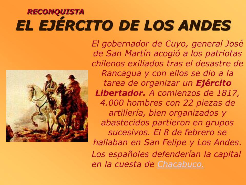 EL EJÉRCITO DE LOS ANDES