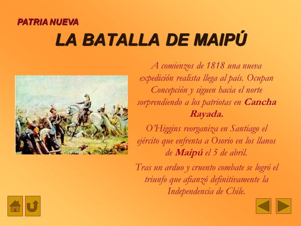 PATRIA NUEVALA BATALLA DE MAIPÚ.