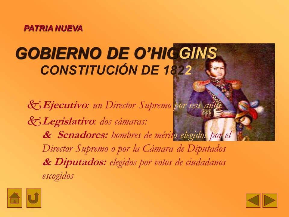 GOBIERNO DE O'HIGGINS CONSTITUCIÓN DE 1822