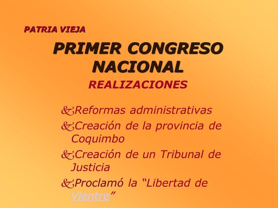 PRIMER CONGRESO NACIONAL