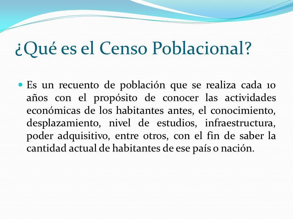 ¿Qué es el Censo Poblacional
