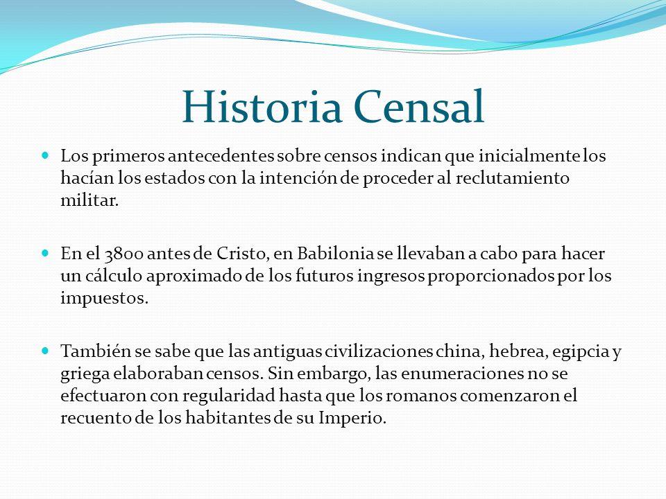 Historia Censal