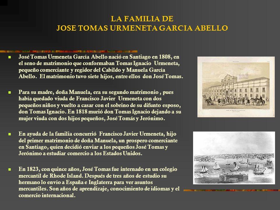 LA FAMILIA DE JOSE TOMAS URMENETA GARCIA ABELLO