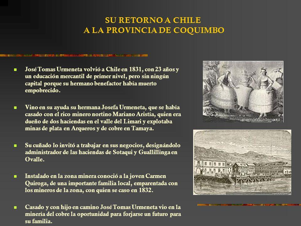 SU RETORNO A CHILE A LA PROVINCIA DE COQUIMBO