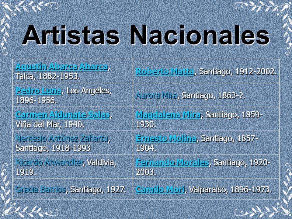 Artistas Nacionales Agustín Abarca Abarca, Talca, 1882-1953.