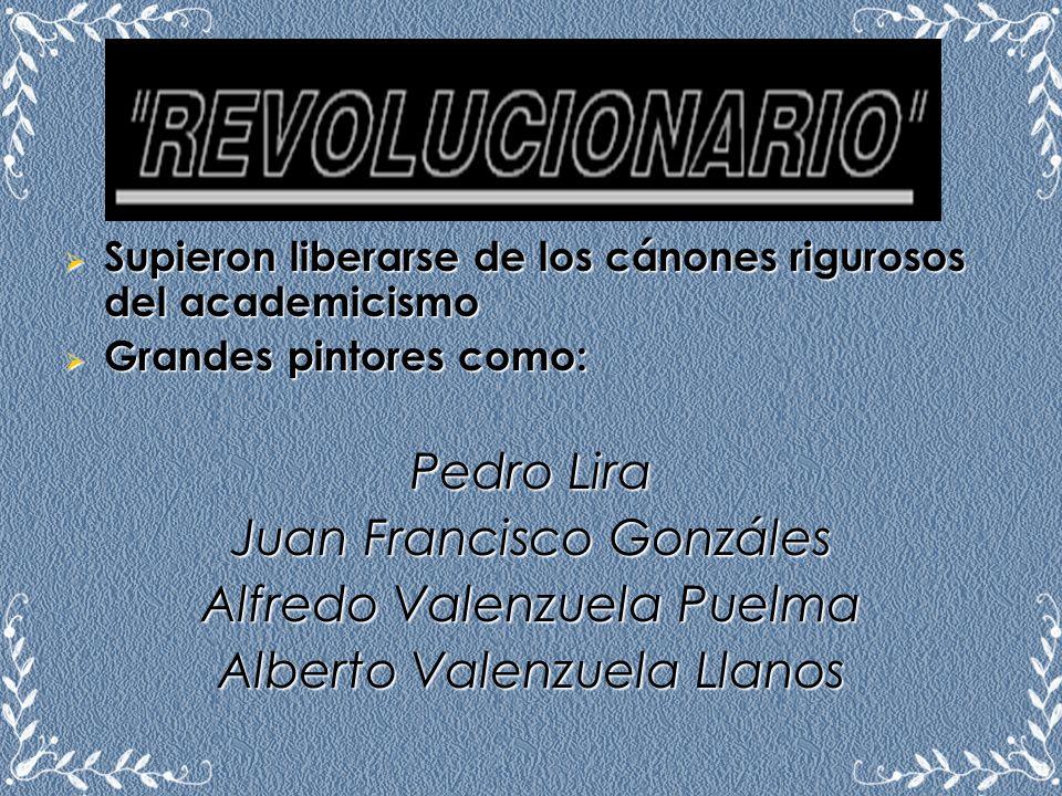 Juan Francisco Gonzáles Alfredo Valenzuela Puelma