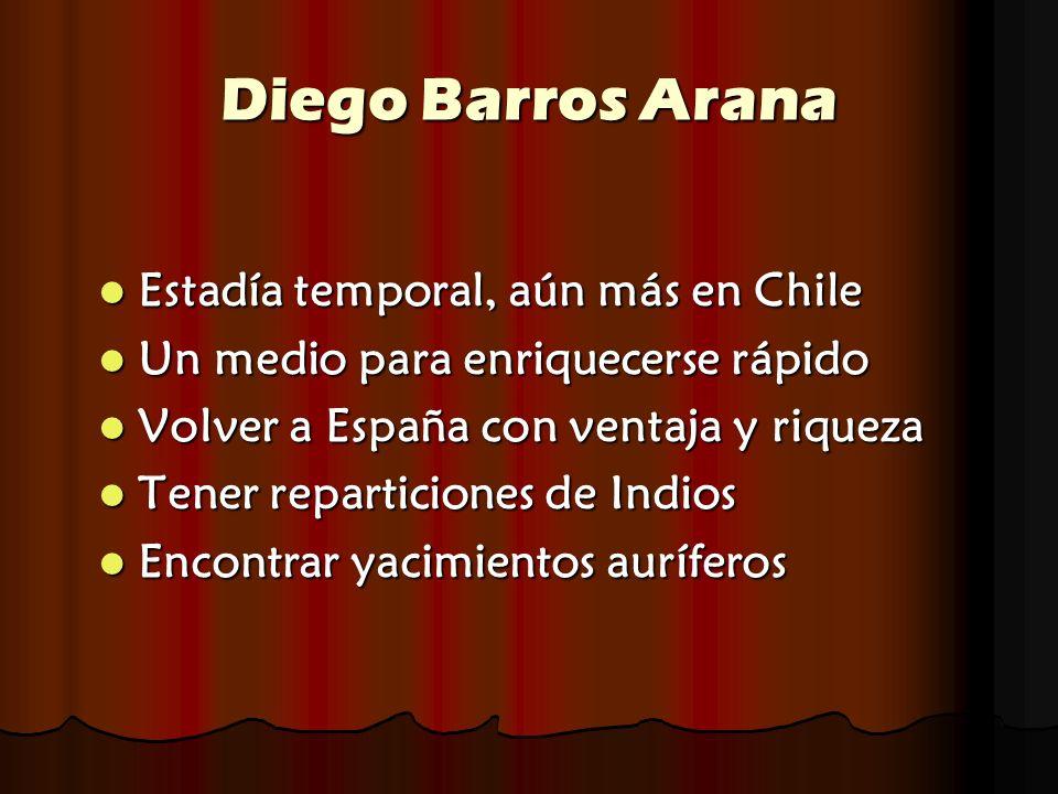 Diego Barros Arana Estadía temporal, aún más en Chile