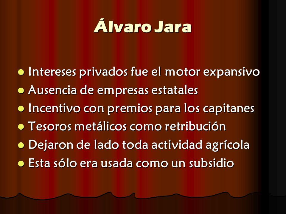 Álvaro Jara Intereses privados fue el motor expansivo