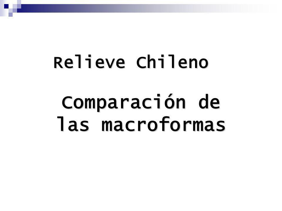 Comparación de las macroformas