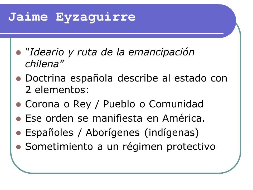 Jaime Eyzaguirre Ideario y ruta de la emancipación chilena