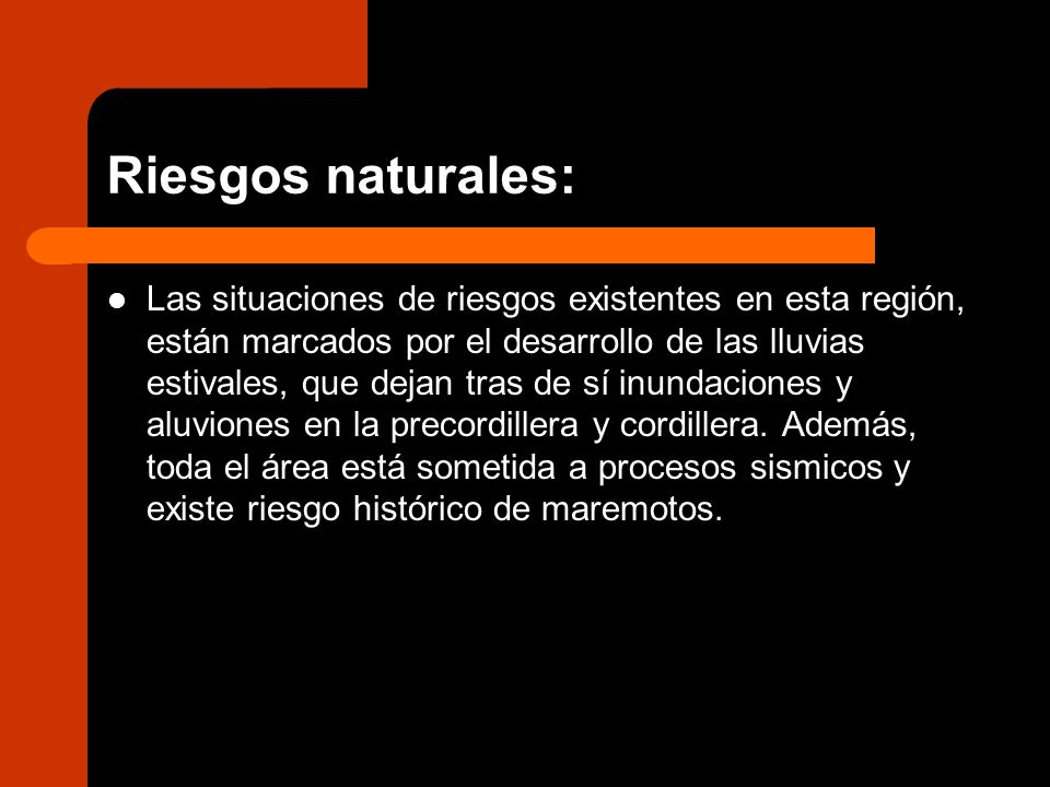 Riesgos naturales: