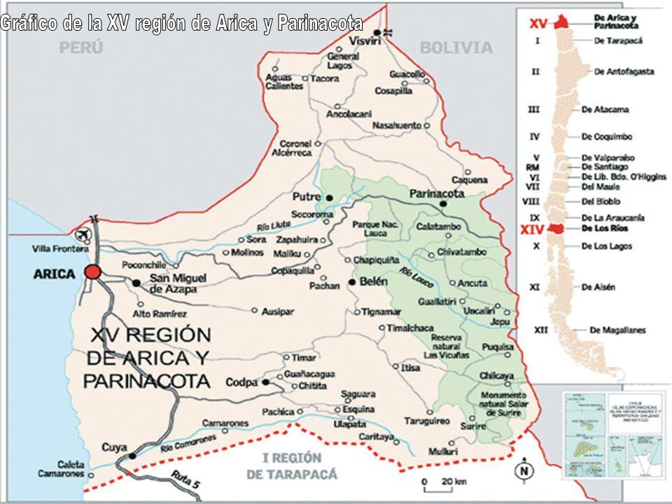 Gráfico de la XV región de Arica y Parinacota