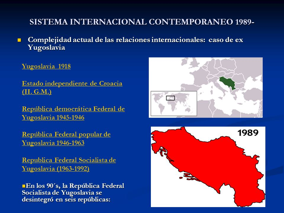 SISTEMA INTERNACIONAL CONTEMPORANEO 1989-
