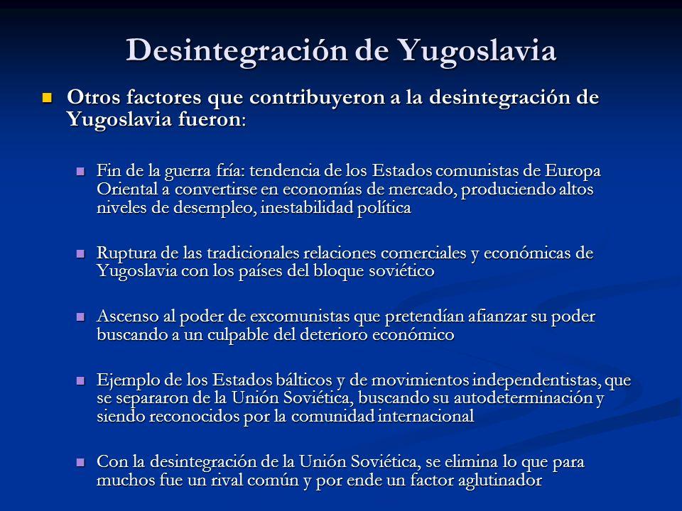 Desintegración de Yugoslavia