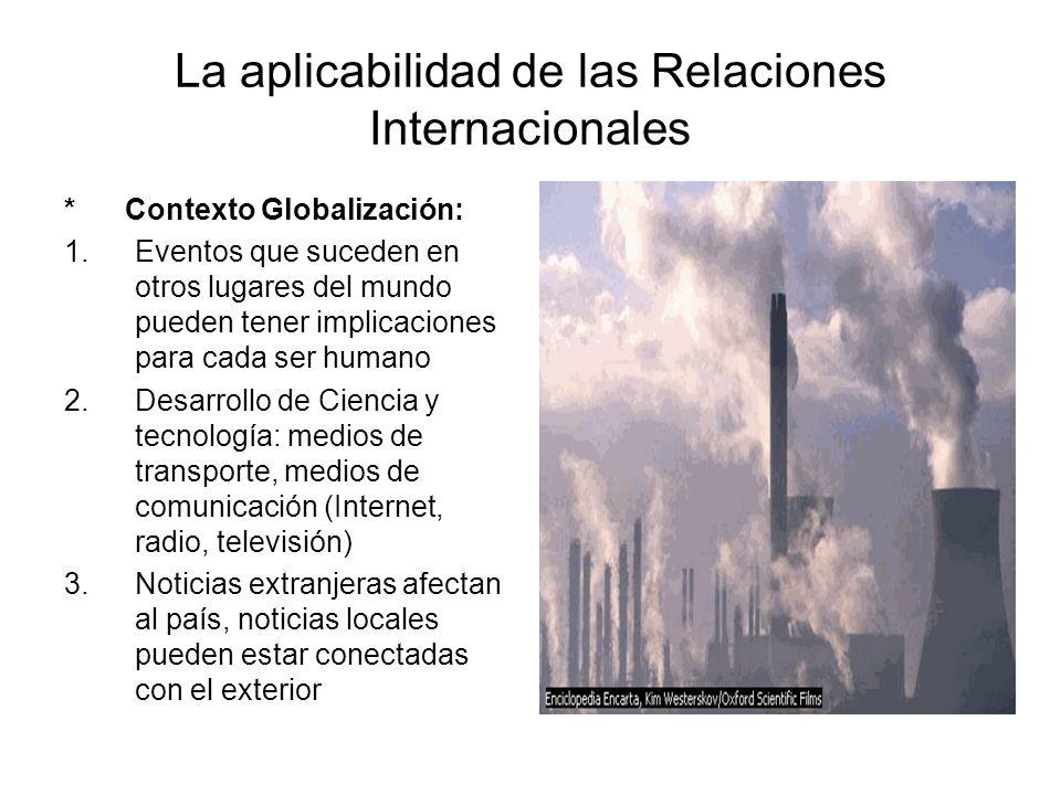 La aplicabilidad de las Relaciones Internacionales