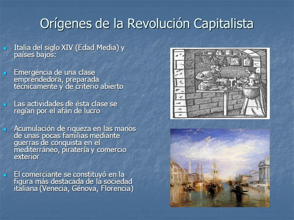 Orígenes de la Revolución Capitalista