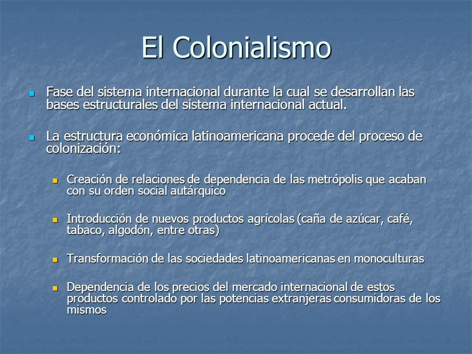 El ColonialismoFase del sistema internacional durante la cual se desarrollan las bases estructurales del sistema internacional actual.