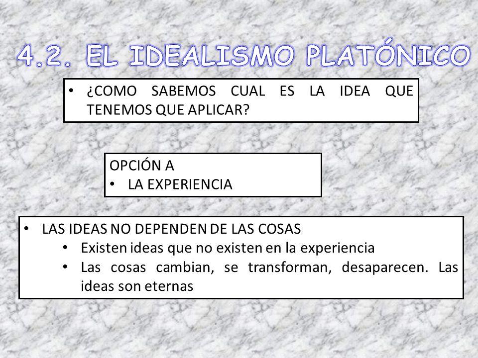4.2. EL IDEALISMO PLATÓNICO