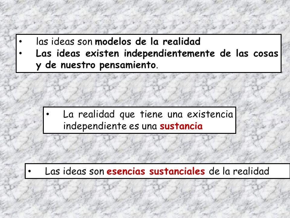 las ideas son modelos de la realidad