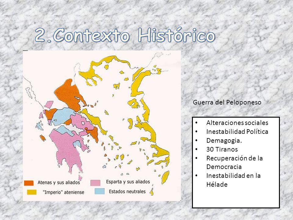 Alteraciones sociales Inestabilidad Política Demagogia. 30 Tiranos