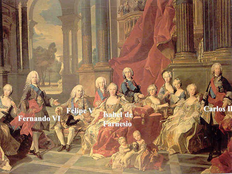 Carlos III Felipe V Isabel de Farnesio Fernando VI