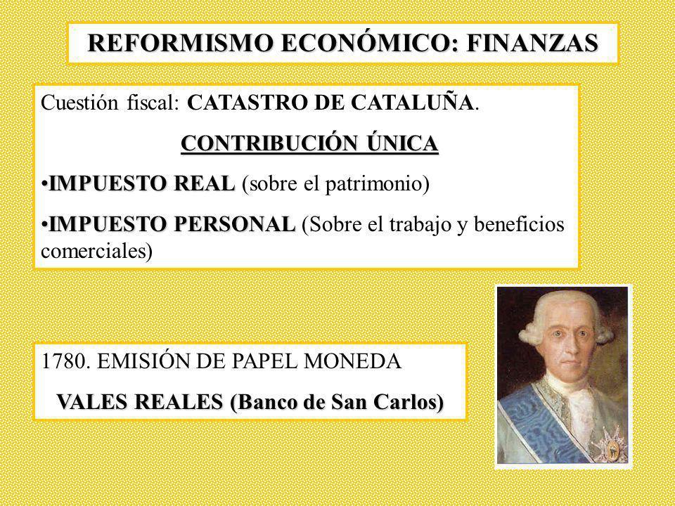 REFORMISMO ECONÓMICO: FINANZAS VALES REALES (Banco de San Carlos)