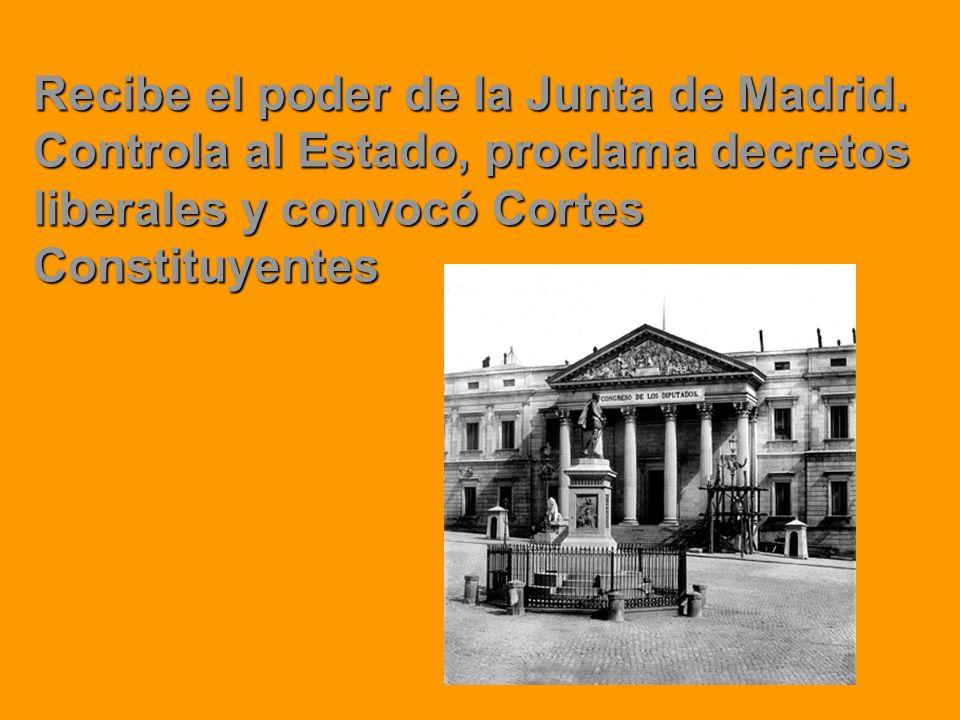 Recibe el poder de la Junta de Madrid