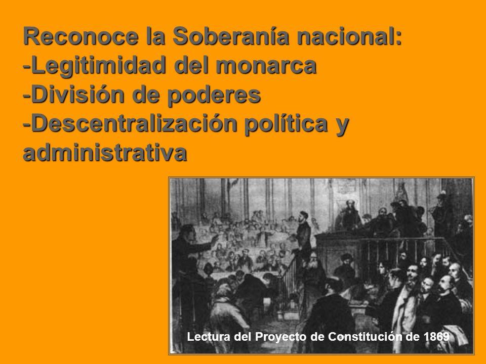 Reconoce la Soberanía nacional: Legitimidad del monarca