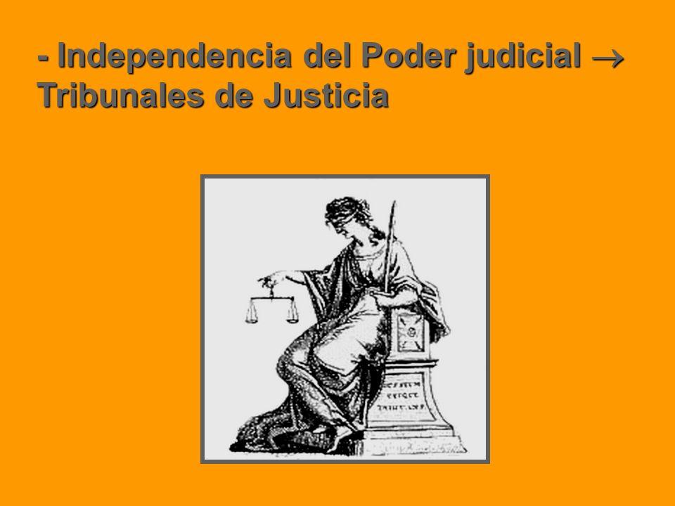 - Independencia del Poder judicial  Tribunales de Justicia
