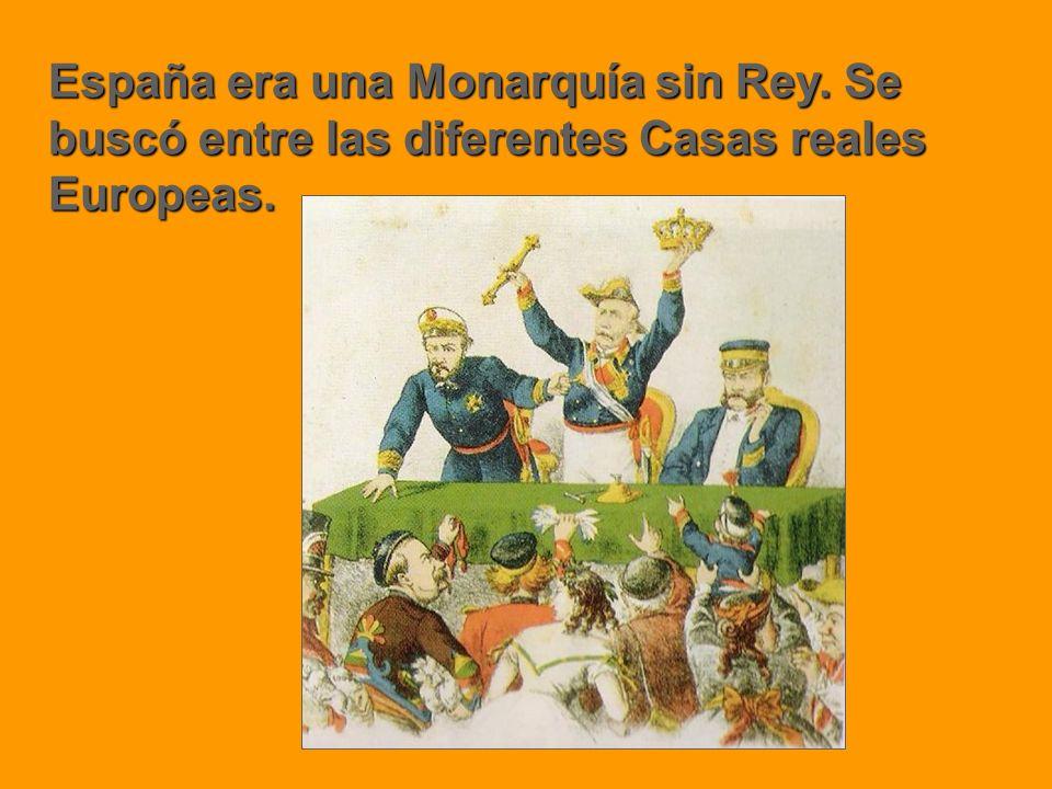 España era una Monarquía sin Rey