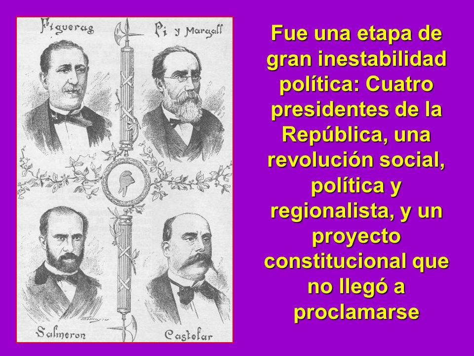 Fue una etapa de gran inestabilidad política: Cuatro presidentes de la República, una revolución social, política y regionalista, y un proyecto constitucional que no llegó a proclamarse