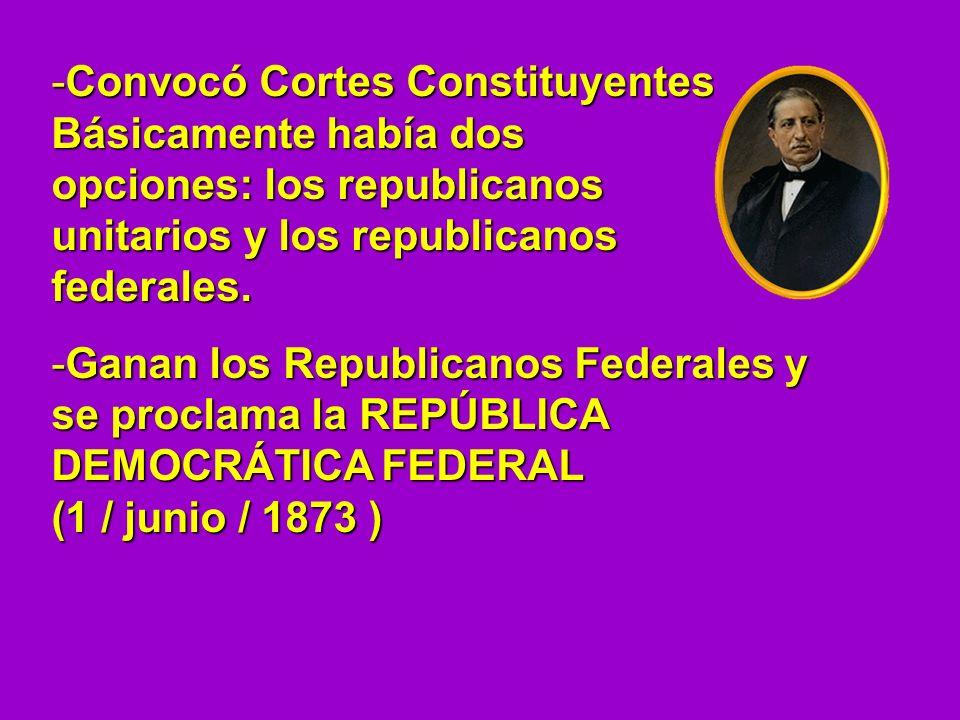 Convocó Cortes Constituyentes
