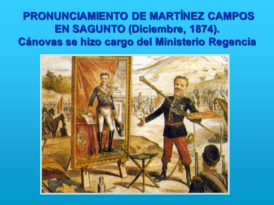 PRONUNCIAMIENTO DE MARTÍNEZ CAMPOS EN SAGUNTO (Diciembre, 1874)
