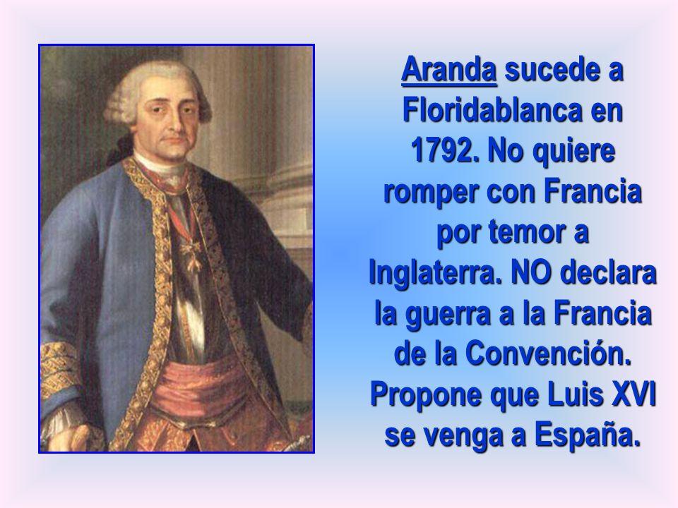 Aranda sucede a Floridablanca en 1792