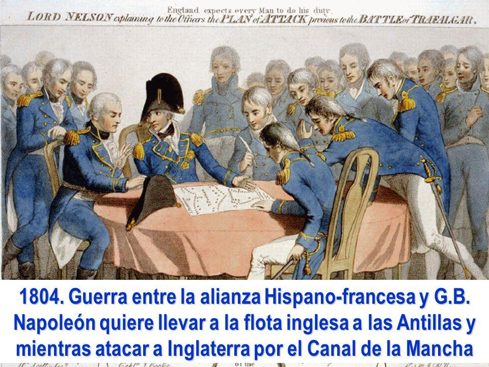 1804. Guerra entre la alianza Hispano-francesa y G. B