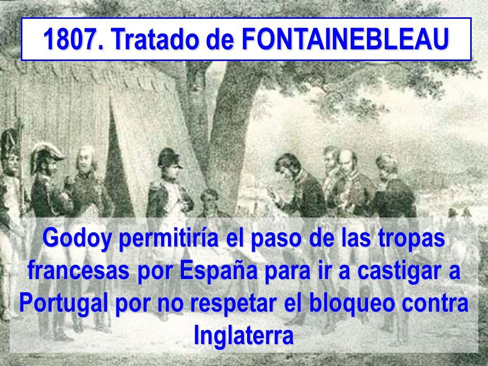 1807. Tratado de FONTAINEBLEAU